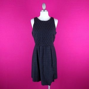 @ Loft sz 8P Black Dress Aline Crochet